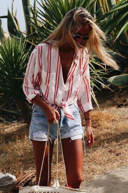 estilo playa shorts
