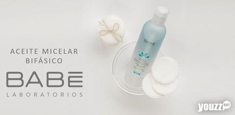 Desmaquillado y limpieza facial con el Aceite Micelar Bifásico de LABORATORIOS BABÉ
