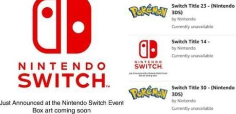 Amazon sube 30 nuevos juegos de Switch, dos de Pokémon, ¿Error o Direct?