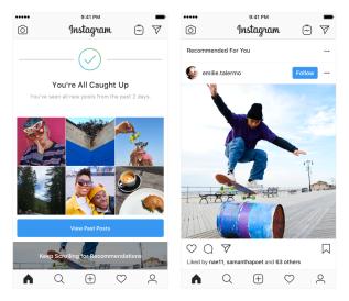 """Instagram cambia su algóritmo para sugerirte fotos de cuentas que no sigues y que """"deberías seguir"""""""