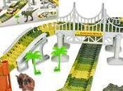 Pista carreras dinosaurios. Mundo Jurásico. Dino World Track