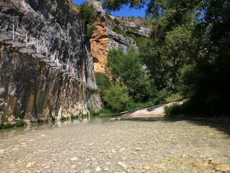 Pasarelas del río Vero en Alquezar