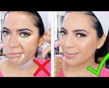 Errores al aplicar la base de maquillaje