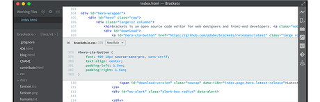 Como trabajar con la Vista Previa Real Time del editor de código Brackets