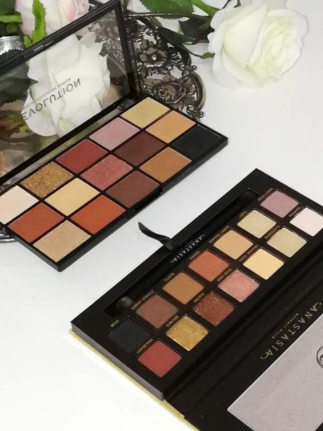 Soft Glam de Anastasia Beverly Hills Vs Velvet Rose Makeup Revolution .