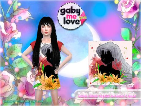 Sailor Moon Crystal Dresses 4 Girls (Sims 4)