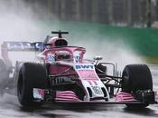 Pruebas Libres Italia 2018 Pérez coche rosa dominan agua