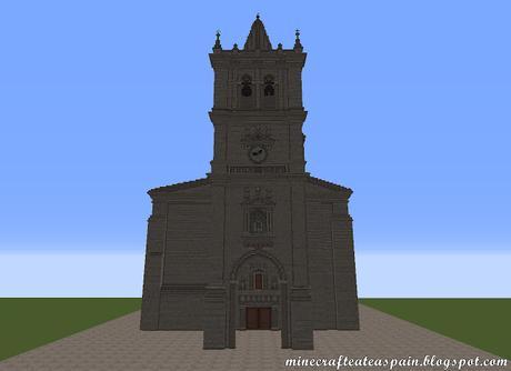 Réplica Minecraft de la Iglesia de San Nicolas, Santibañez Zarzaguda, Burgos, España.
