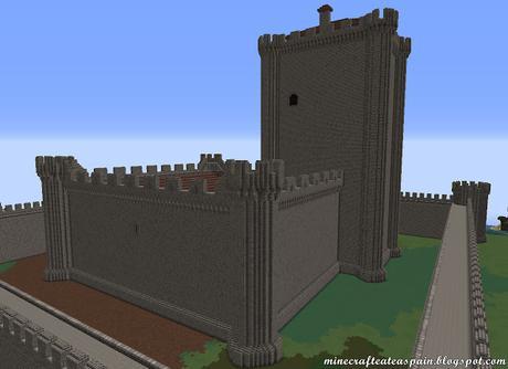 Réplica Minecraft del Castillo de Villafuerte de Esgueva, Valladolid, España.