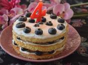 Tarta Yogur Arándanos. aniversario.