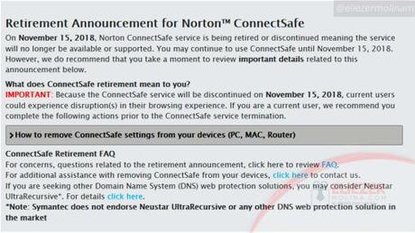 Adiós ConnectSafe: Norton ConnectSafe llega a su fin