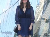 Vestido azul lunares para verano