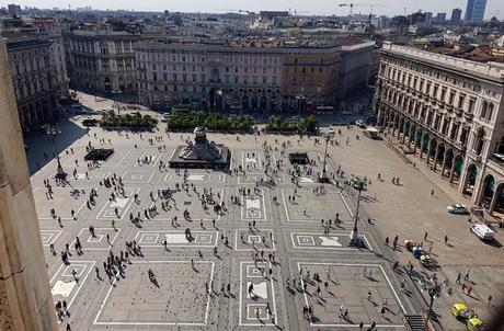 Plaza del Duomo desde la terraza de la catedral qué ver en Milán