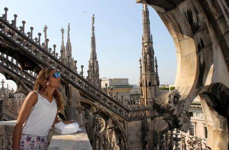 Detalle desde la terraza del Duomo qué ver en Milán