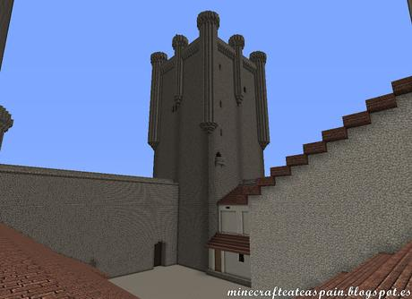Réplica Minecraft del Castillo de los Comuneros de Torrelobatón, Valladolid, España.