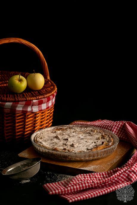 Pastel fresco de manzana