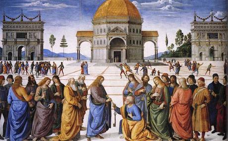 Perugino,-Cristo entregando las Llaves del Reino a San Pedro-1481-83