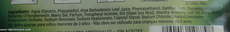 mascarilla ingredientes