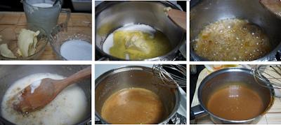 Tarta de queso con salsa de caramelo