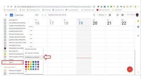 El problema de los calendarios de Classroom