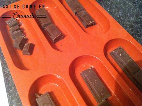 Barritas energéticas con dátiles y chocolate