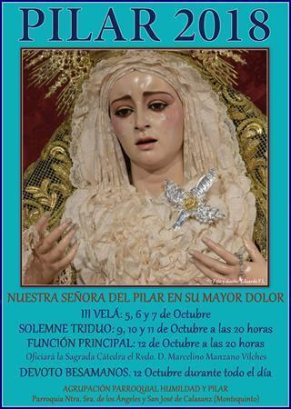 III Velá y Cultos en honor de Ntra. Sra. del Pilar en su Mayor Dolor