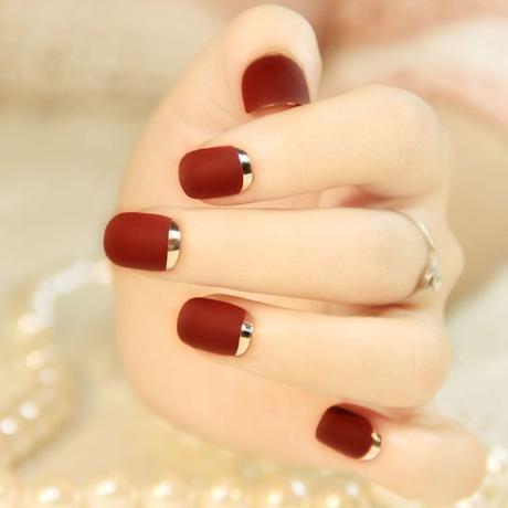 Unas Rojas Decoradas Disenos Con Colores Y Formas Elegantes Paperblog
