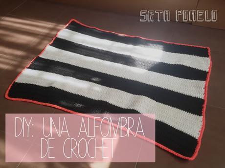 DIY: una alfombra de crochet rectangular.