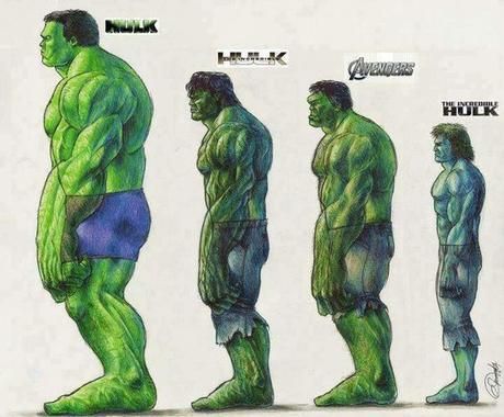 La evolución de Hulk en las películas