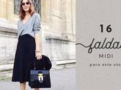 faldas midi para este otoño