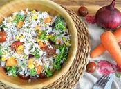 Ensalada arroz quinoa verduras
