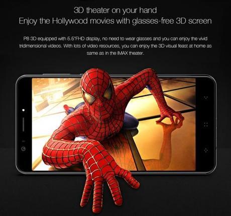 Elephone P8 3D, otro 3D asequible para todo el mundo