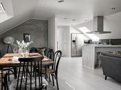 Decoración nórdica para salón&cocina tonos perlados.