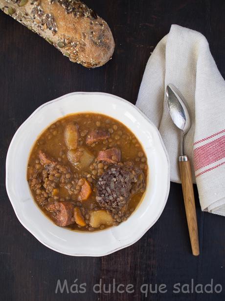 Lentejas estofadas en Crock-Pot