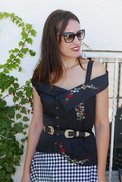 Reciclar vestido bordado