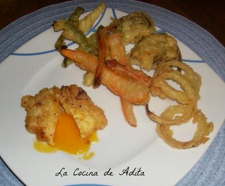 Huevos  fritos  en  tempura