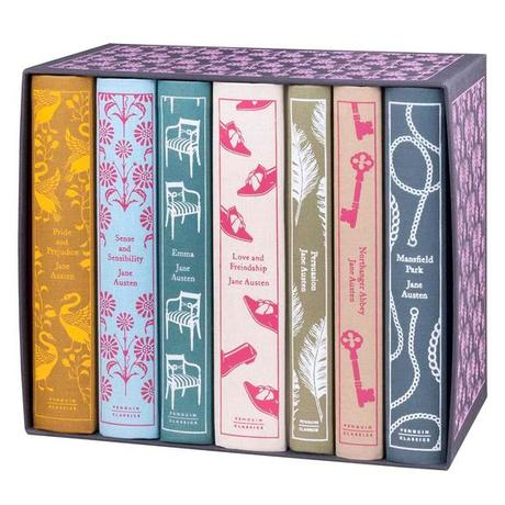 The Puffin Jane Austen Set: Pride and Prejudice, Sense and Sensibility, Emma, Love and Friendship, Persuasion, Northanger Abbey, and Mansfield Park.