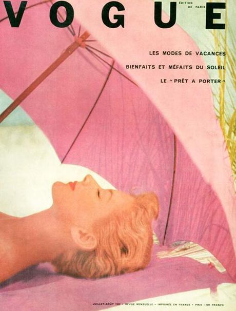 portada de la revista Vogue ilustrada por Irving Penn, julio de 1952