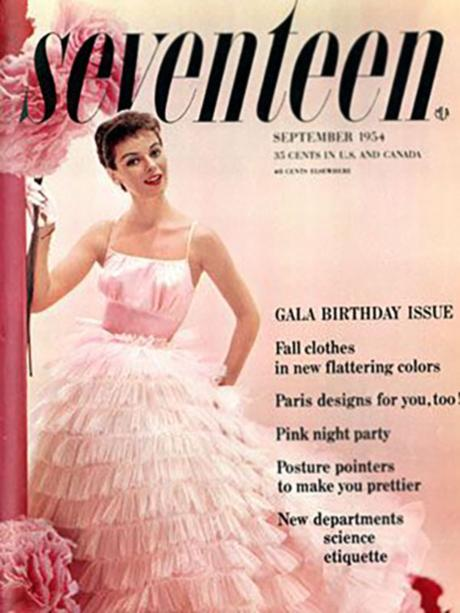 portada de la revista Seventeen, septiembre de 1954