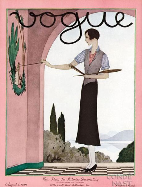 portada de la revista Vogue, agosto de 1929