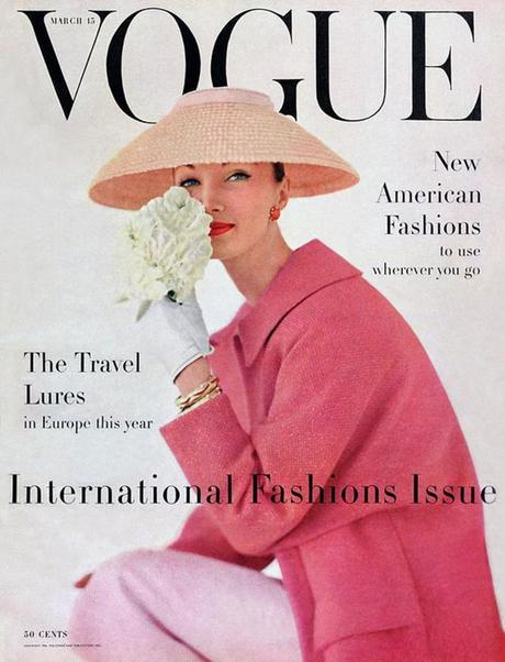portada de la revista Vogue, marzo de 1956 (ver)