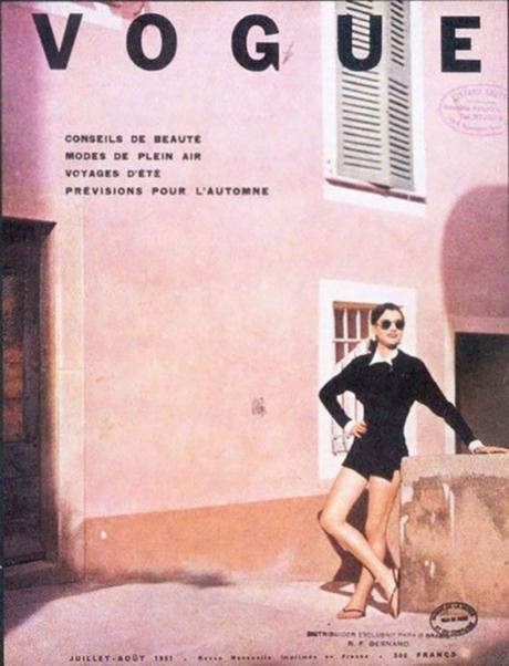 portada de la revista Vogue, agosto de 1951