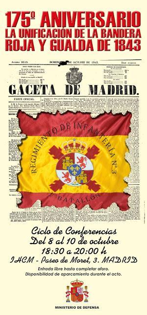 175 aniversario de la unificación de la bandera roja y gualda de 1843  (conmemoración)
