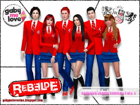 Gabymelove Sims, Rebelde School Uniforms Part. 1 - Sims 4
