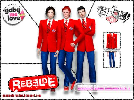 Rebelde School Uniforms Part. 1 - Sims 4 Masculino