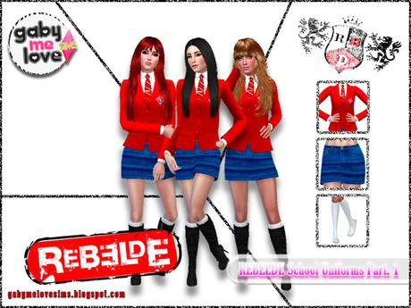Rebelde School Uniforms Part. 1 - Sims 4 Femenino