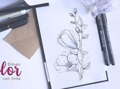 Dibujando: Flor tinta