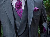 Traje novio italiano medida gris antracita mixto lana