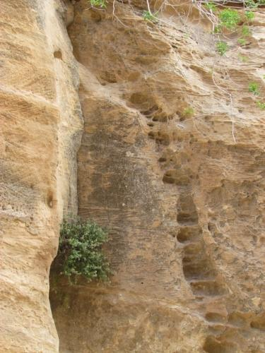 Las escaleras en Petra y Pequeña Petra. Jordania