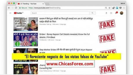 El floreciente negocio de  las vistas falsas de YouTube